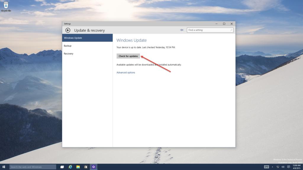 Tutorials Windows Updates