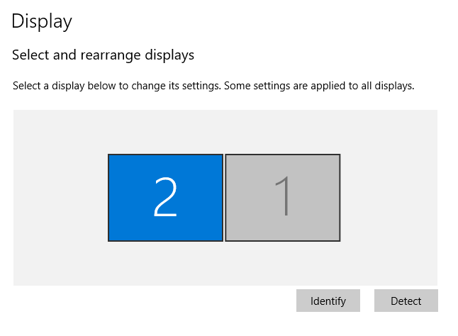 How to set a display as main display