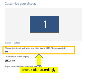 Change DPI Scaling Level for Displays