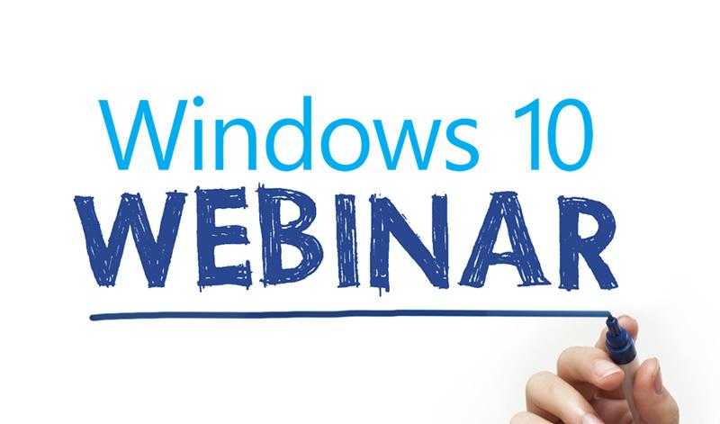 Windows 10 webinars