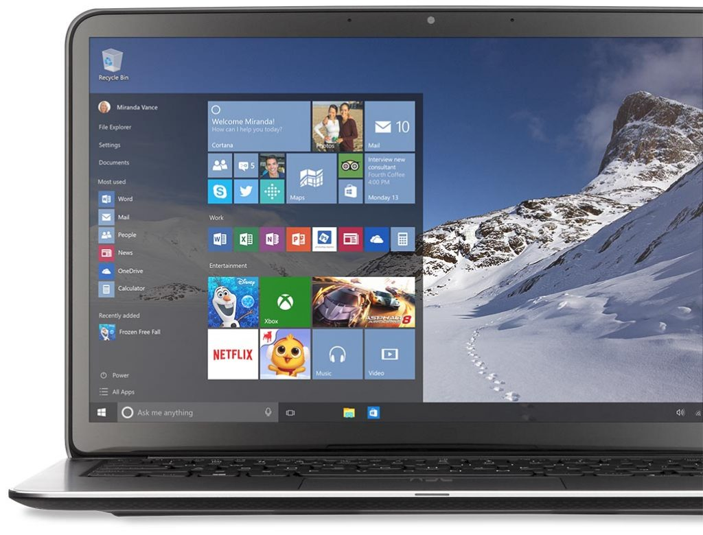 A new Windows 10 Laptop