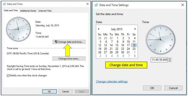 How to Change Date and Time