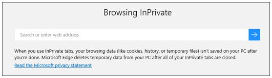 Microsoft Edge InPrivate Browsing
