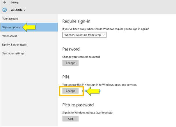 How to Change the PIN for Your Account