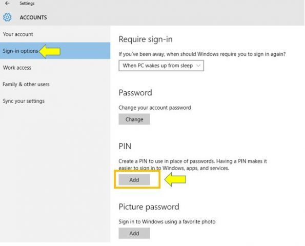 How to Remove the PIN for Your Account