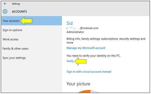 Verify Your Microsoft Account Identity