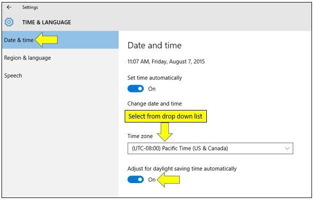 How to Change Timezone