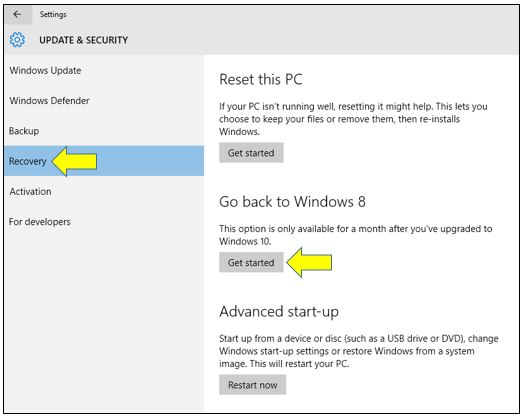 How To Go Back to Windows 7 or 8 from Windows 10
