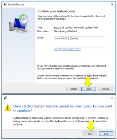 How To Do a System Restore in Windows 10