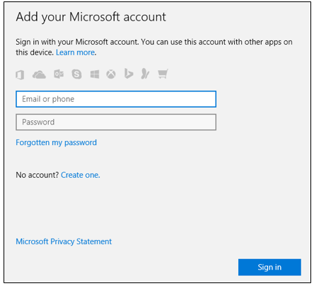 Sign in to Store With Different a Account in Windows 10
