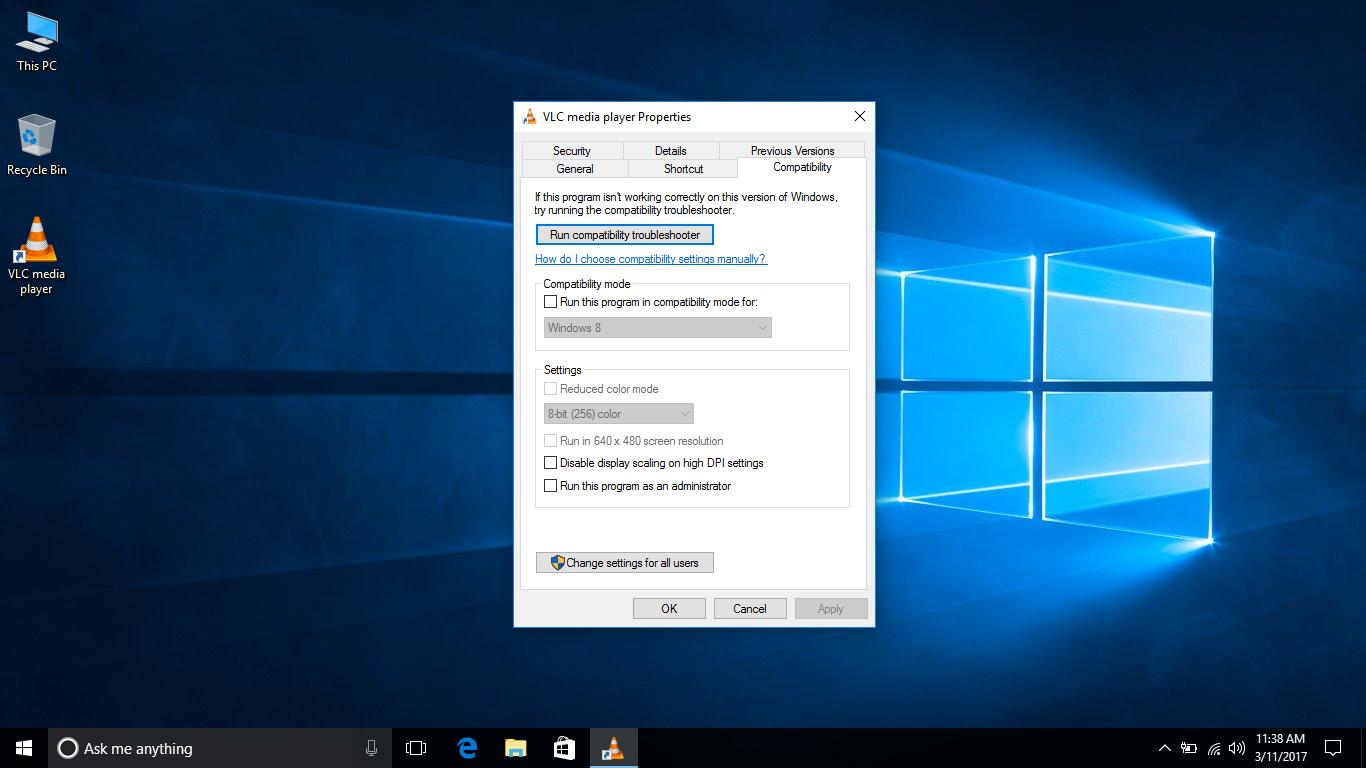 windows 10 tutorial run an app in compatibility mode