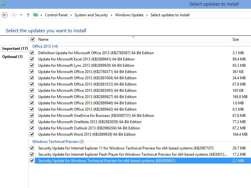 Windows 10 Update Tuesday October 2014