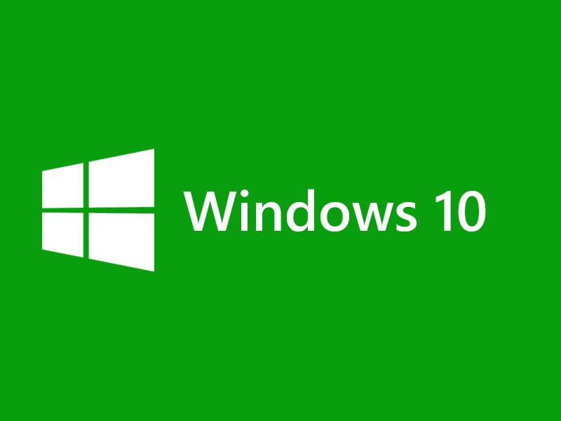 Windows 10 Logo Green