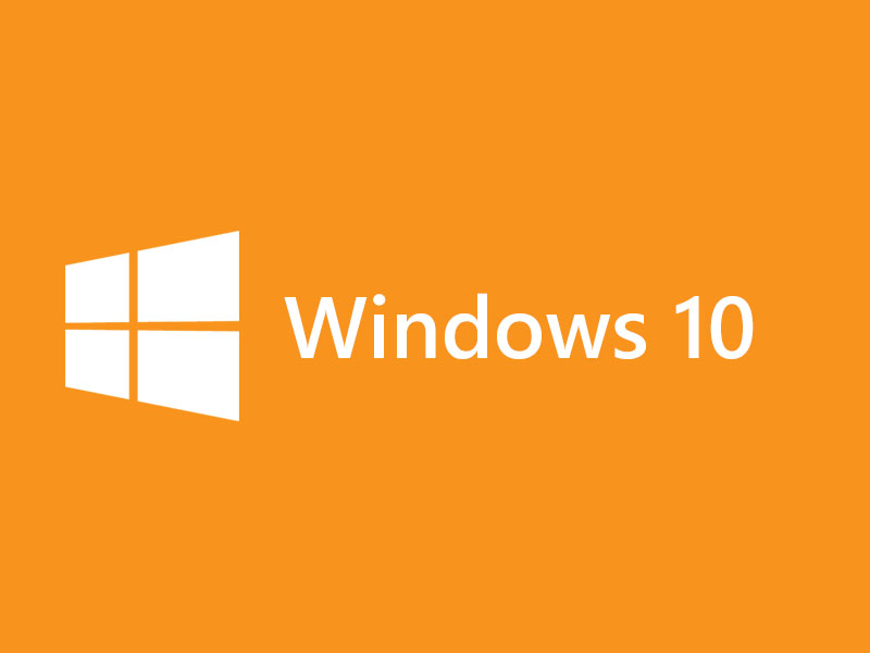 Windows 10 Logo Orange