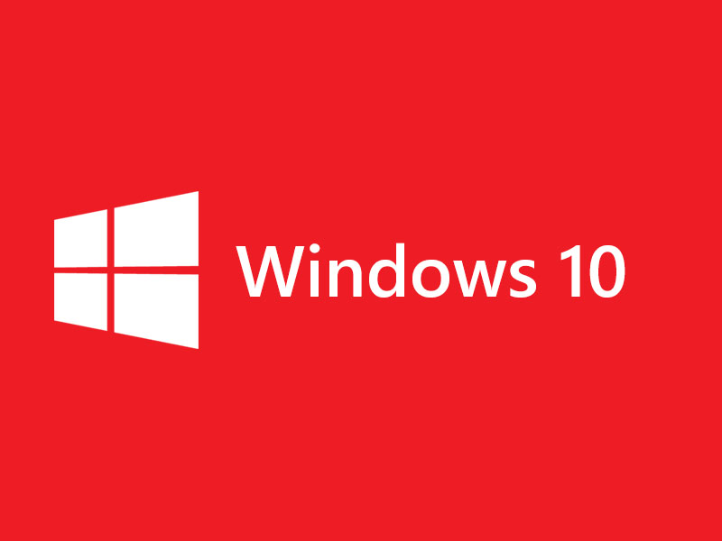 Windows 10 Logo Red