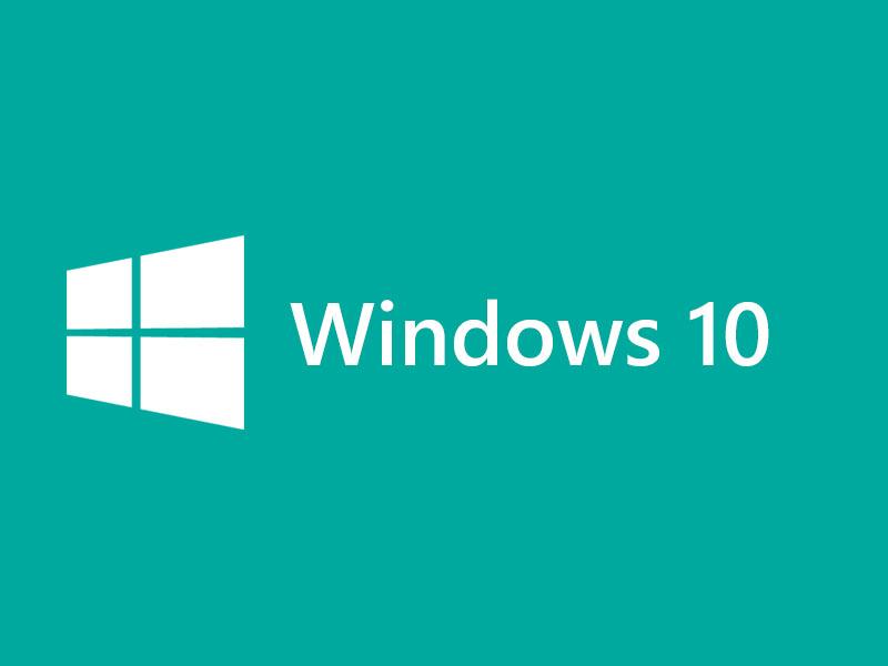 Windows 10 Logo Teal