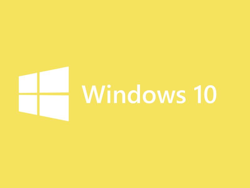 Windows 10 Logo Yellow
