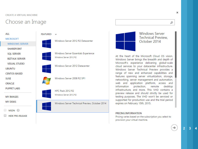 Windows Server Technical Preview