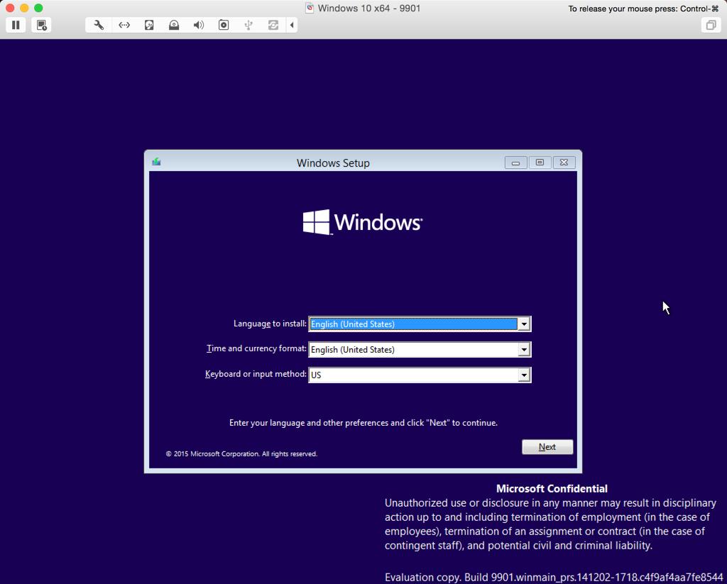 FIX - Windows 10 9901 will not work with Vmware - keeps crashing