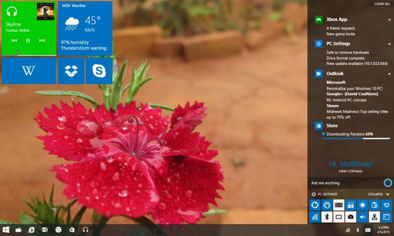 Windows 10 Notification Center Concept Is High On Neat Ideas