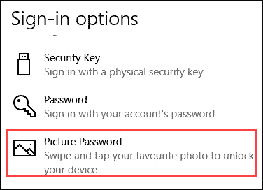 Select Picture Password