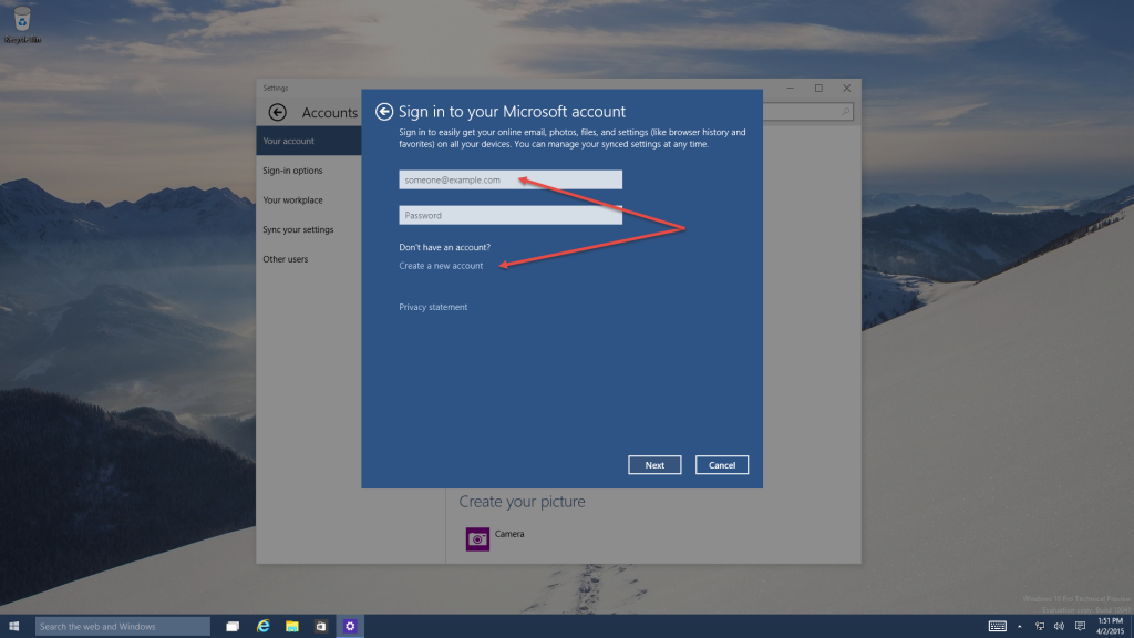 Tutorials Microsoft Account