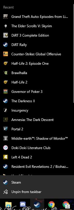 Add More Recent Items on Windows 10 Jump List