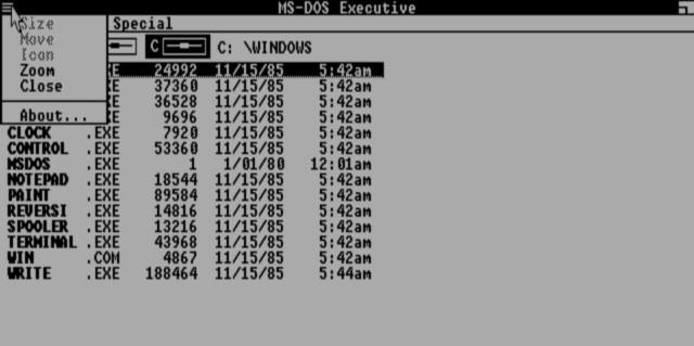 Hamburger Menu Windows 1.0