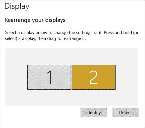 Rearrange Displays