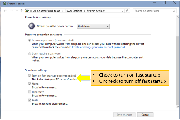 Windows 10 Tutorials 66 \u2013 How to Enable or Disable Fast Startup