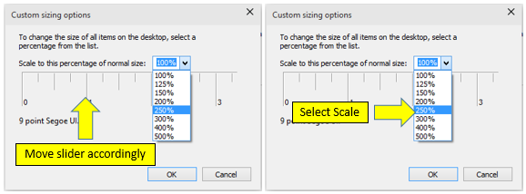 Change DPI Scaling Level for Displays