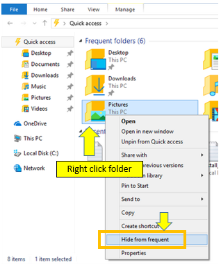 Hide Specific File or Folder From Quick Access