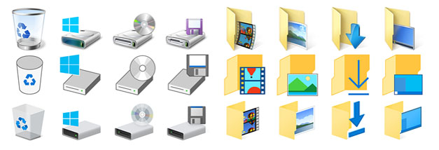 Build 10130 Icons Evolution