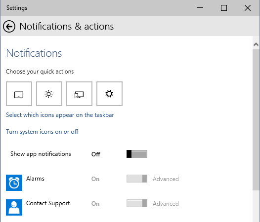 notifications-and-actions-panel