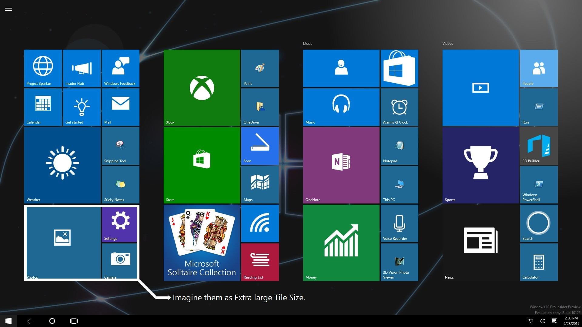Users Ask For Extra Large Live Tiles In Windows 10