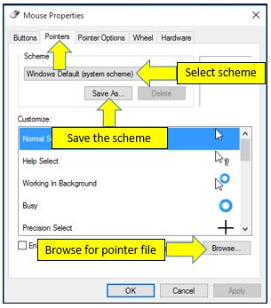 Change Mouse Pointer