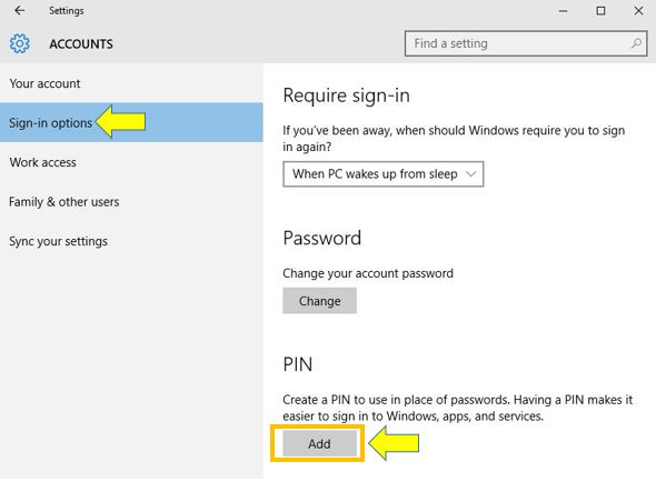 How to Add a PIN to Your Account