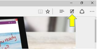 How to use Microsoft Edge Inking Feature