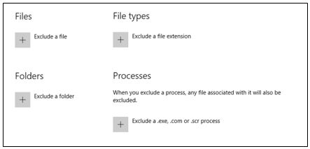 Windows Defender Exclusion