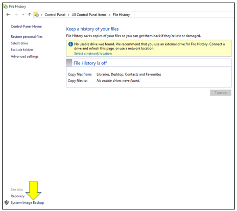 How To Create a System Image in Windows 10