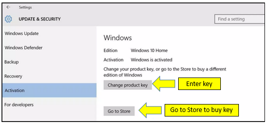 Upgrade Windows 10 Home to Windows 10 Professional