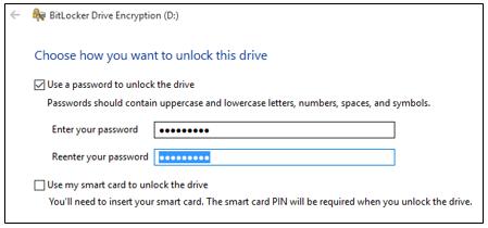 BitLocker Drive Encryption in Windows 10