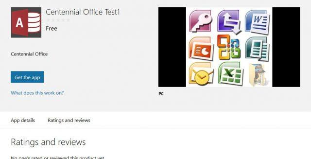 Project Centennial Office Apps