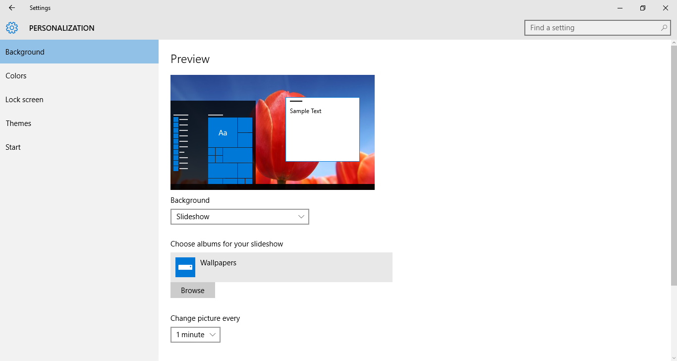 how to create a slideshow on windows 10