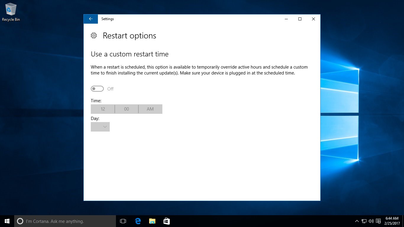 Windows 10 Tutorial: Set A Custom Restart Time - WindowsChimp
