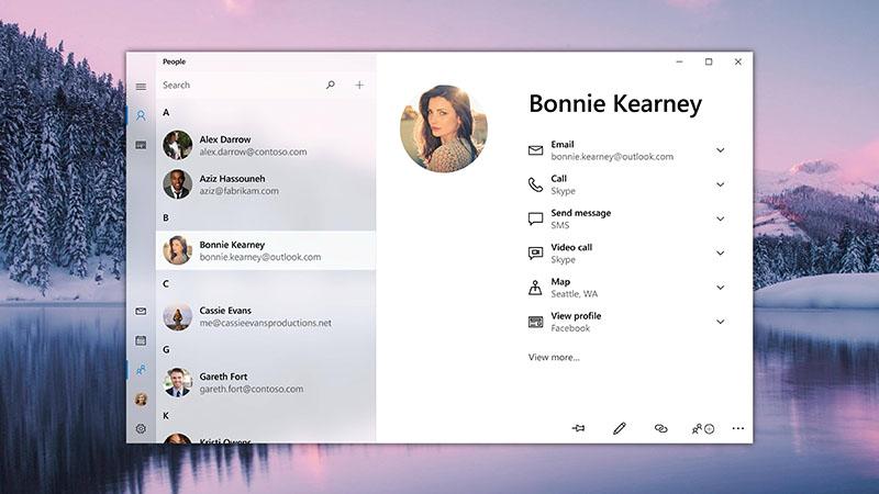Windows 10 People App Done In Project NEON Is Marvelous - WindowsChimp
