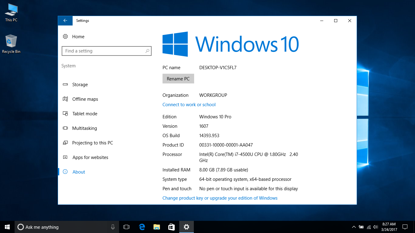 Windows 10 tutorial rename your pc windowschimp for Windows 10 pc