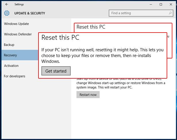 Reset Windows 10 PC -1