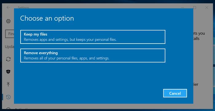 Reset Windows 10 PC -2