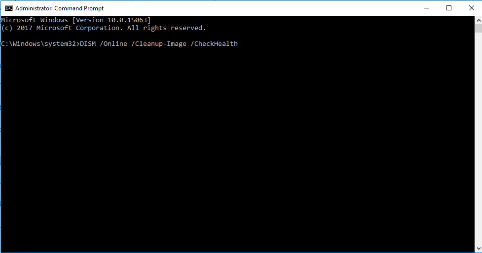 Check Health using Command Prompt